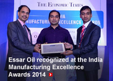 Essar Oil recognized at the India Manufacturing Excellence Awards 2014