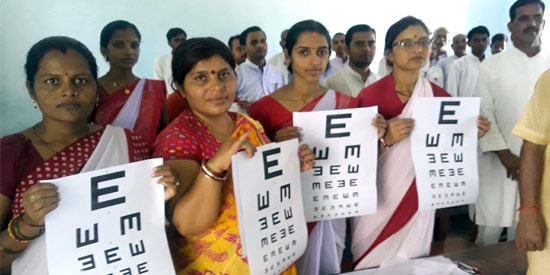 Essar Foundation trained Teachers on vision screening of students