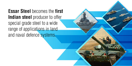 Essar Steel to tap Defence Sector